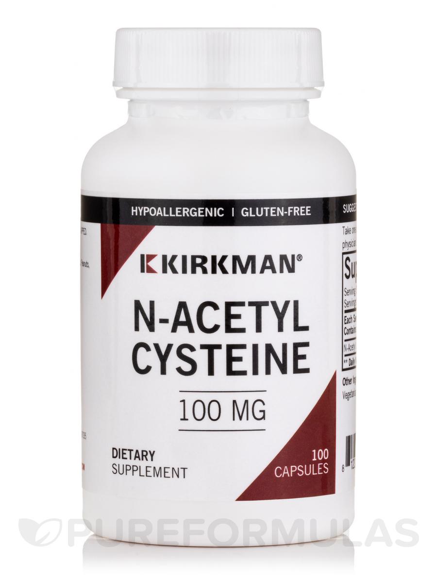N-Acetyl Cysteine 100 mg -Hypoallergenic - 100 Capsules
