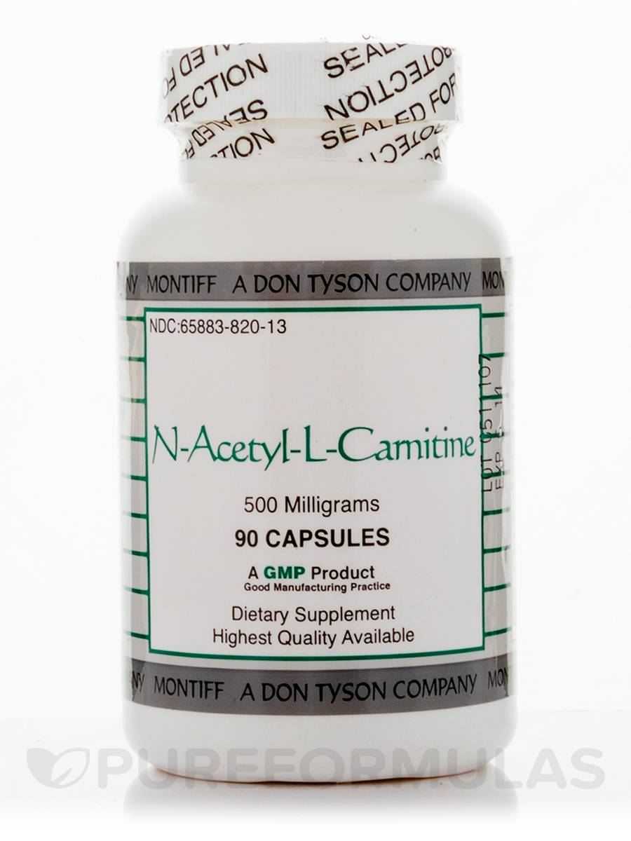 N-Acetyl-L-Carnitine 500 mg - 90 Capsules