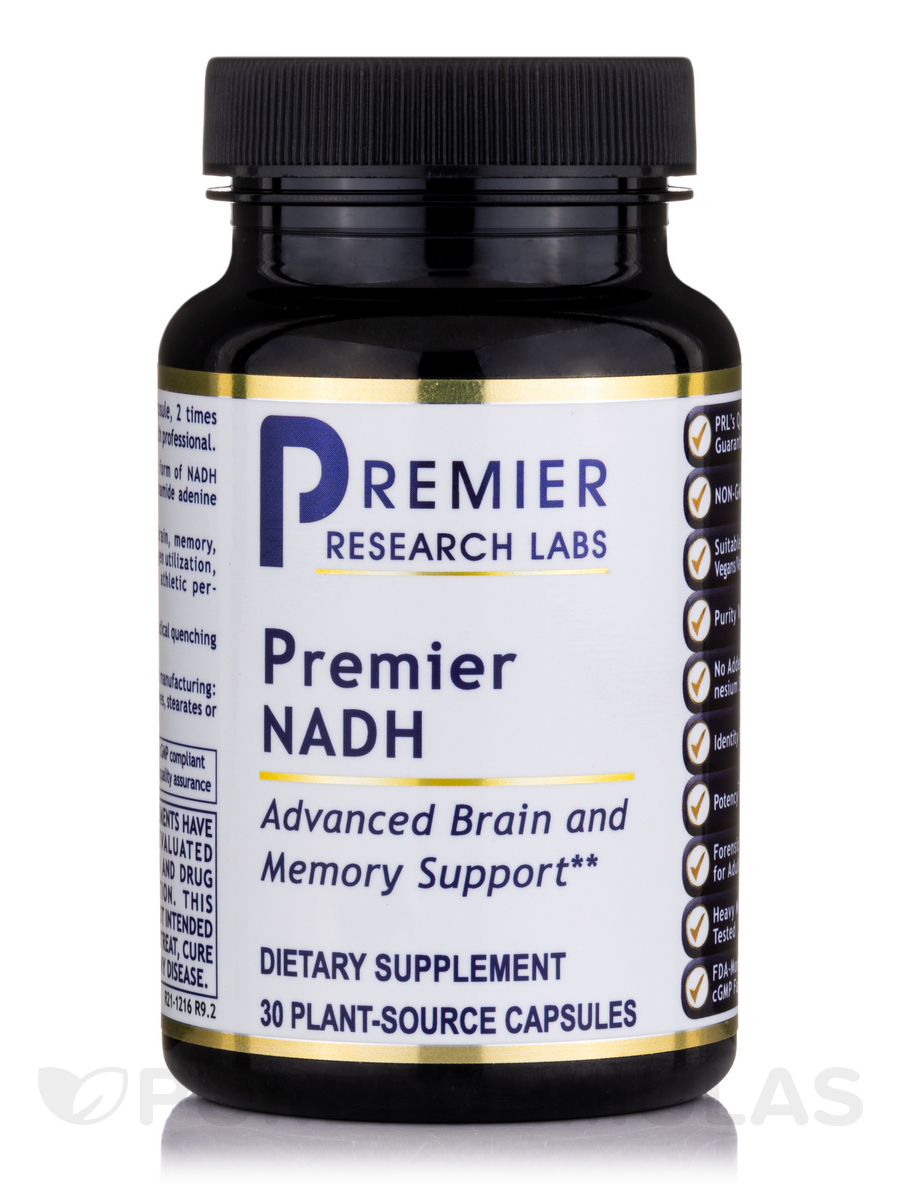 Premier NADH - 30 Vegetable Capsules