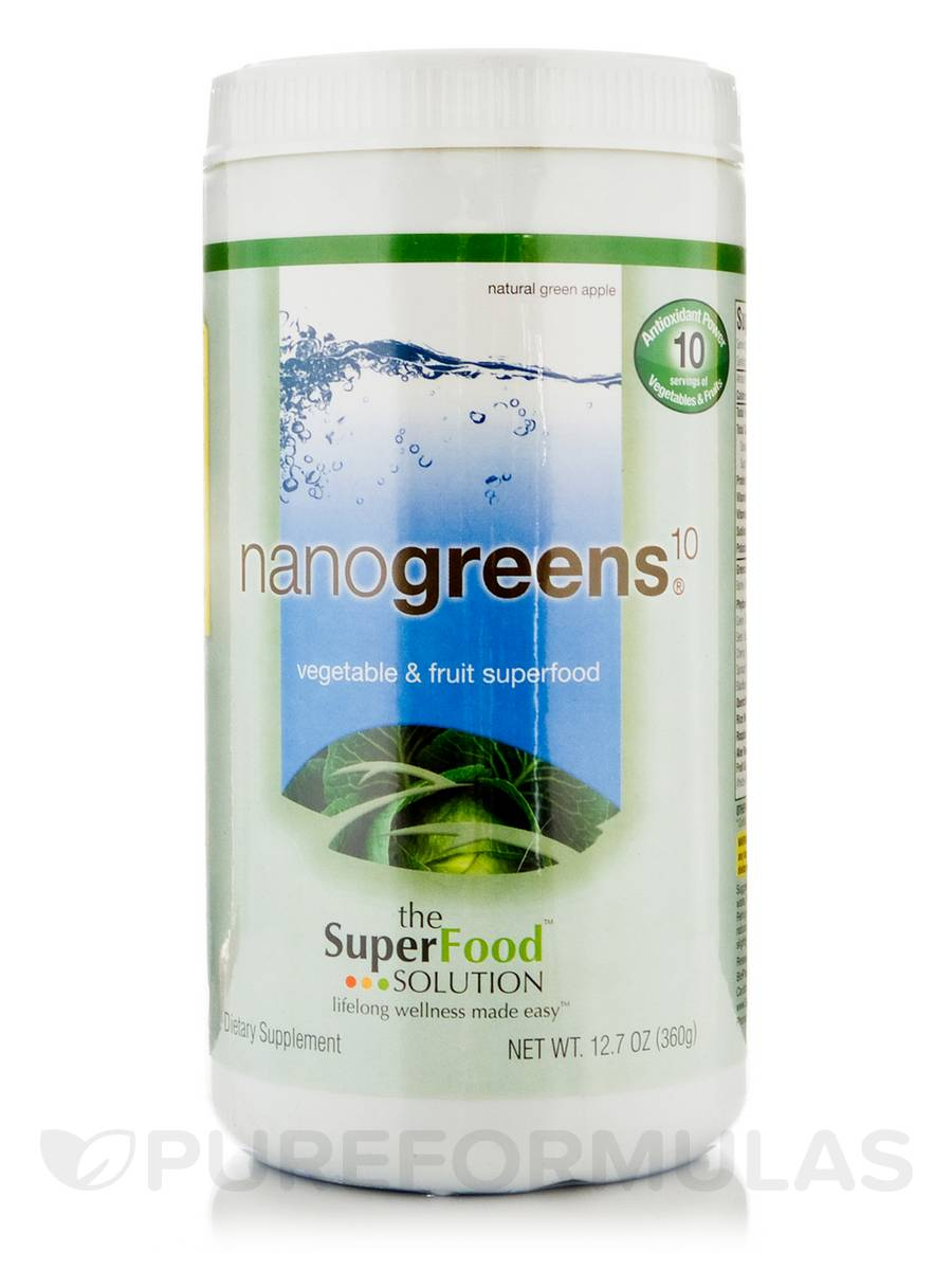 NanoGreens® 10, Natural Green Apple - 12.7 oz (360 Grams)