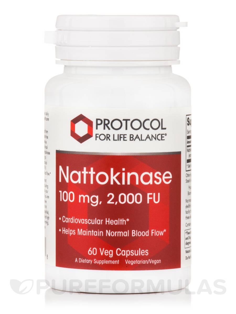 Nattokinase 100 mg / 2,000 FU - 60 Veg Capsules