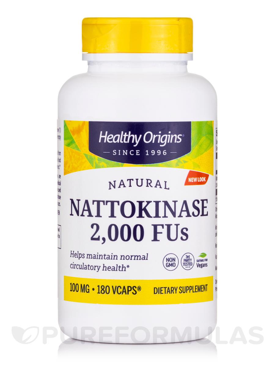 Nattokinase 2000 FU's (100 mg) - 180 Vegetarian Capsules