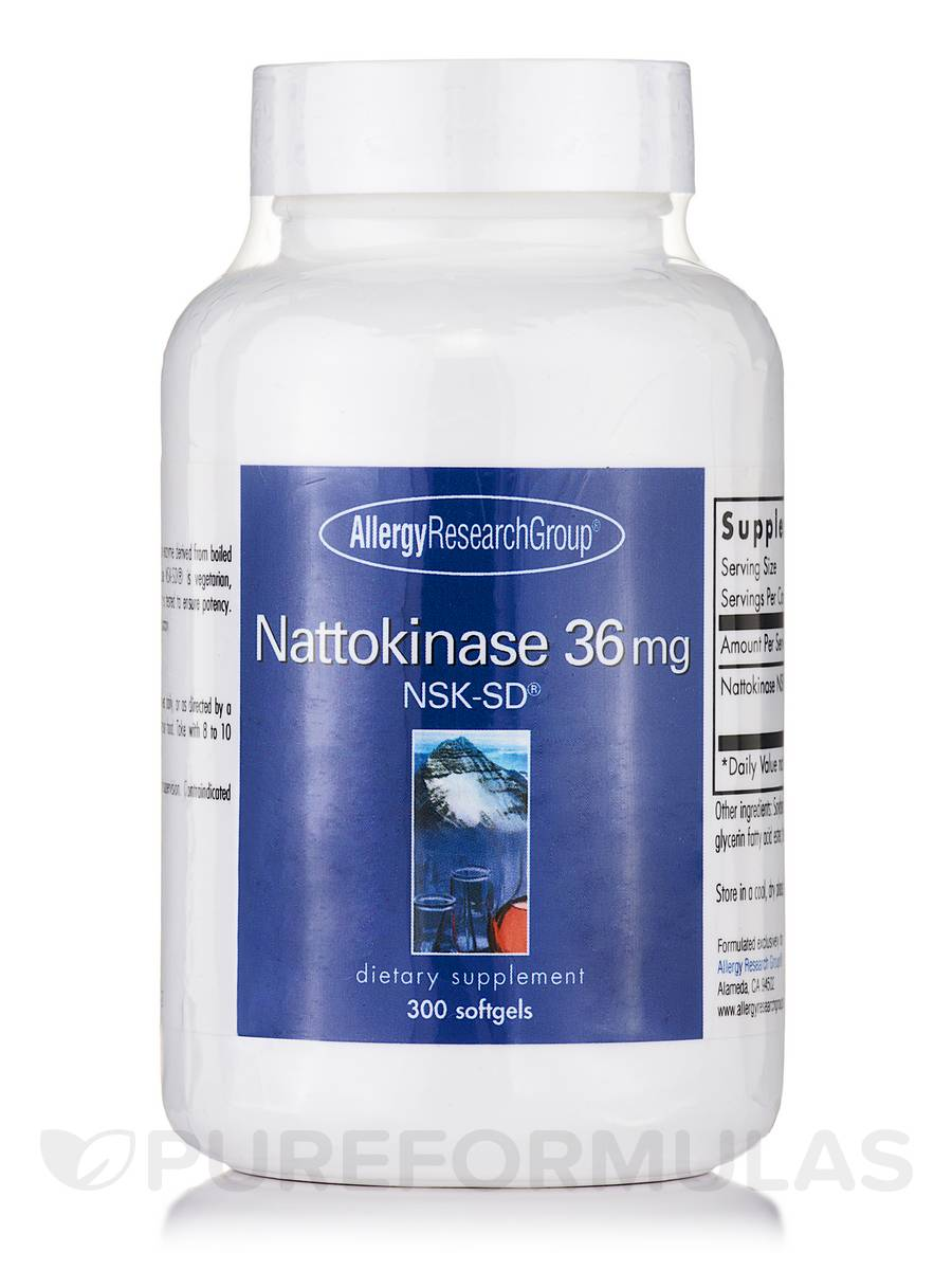 Nattokinase NSK-SD® 36 mg - 300 Softgels