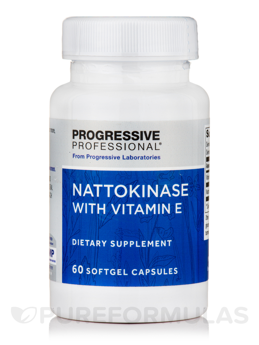 Nattokinase with Vitamin E - 60 Softgel Capsules