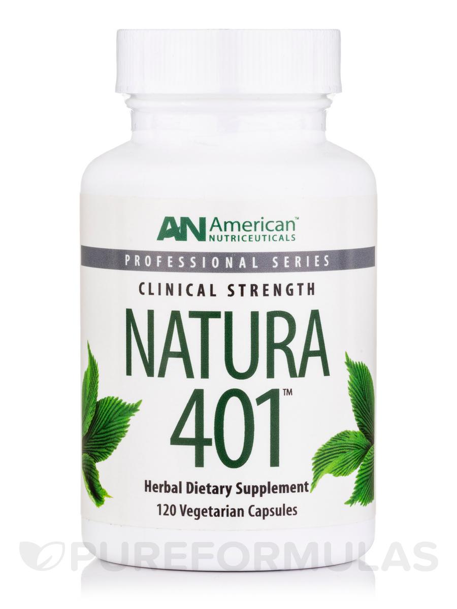 Natura 401-Ductless Glands - 120 Vegetarian Capsules