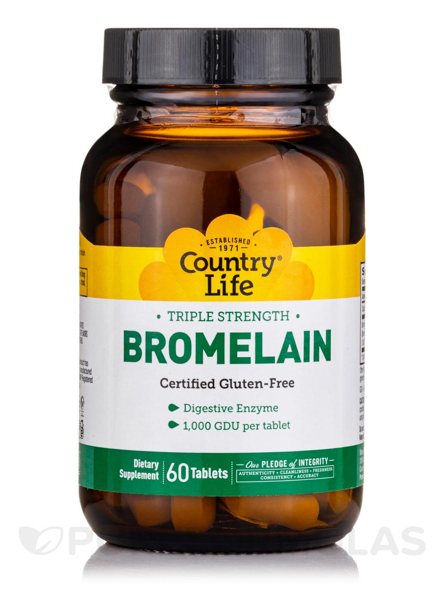 Natural Bromelain 500 mg - 60 Tablets