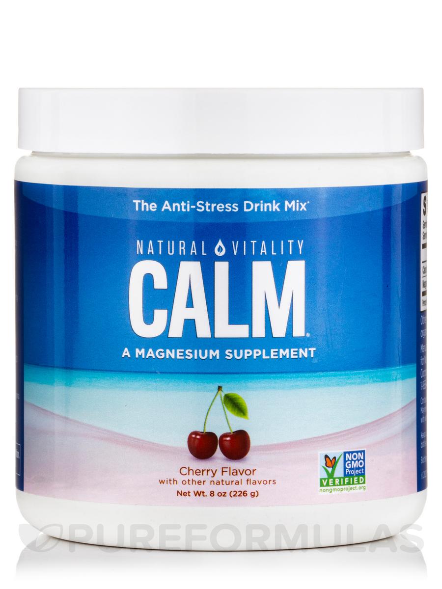 Natural Calm®, Cherry Flavor - 8 oz (226 Grams)