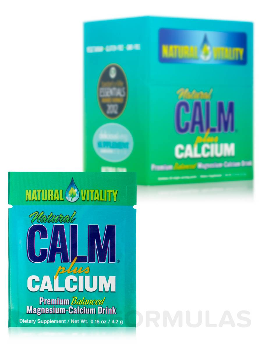 Natural Calm® Plus Calcium Packets, Original (Unflavored) - Box of 30 Packs