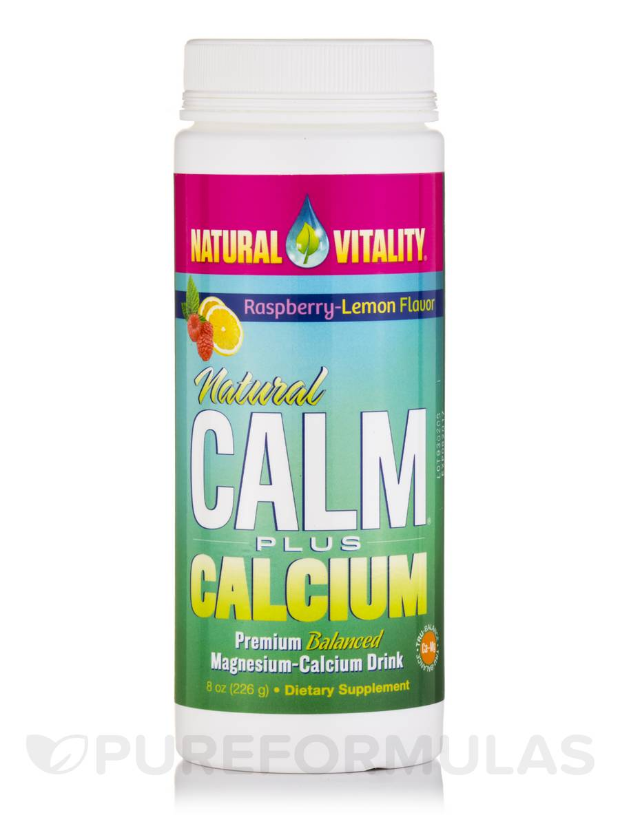 Natural Calm Plus Calcium (Raspberry-Lemon Flavor) - 8 oz (226 Grams)