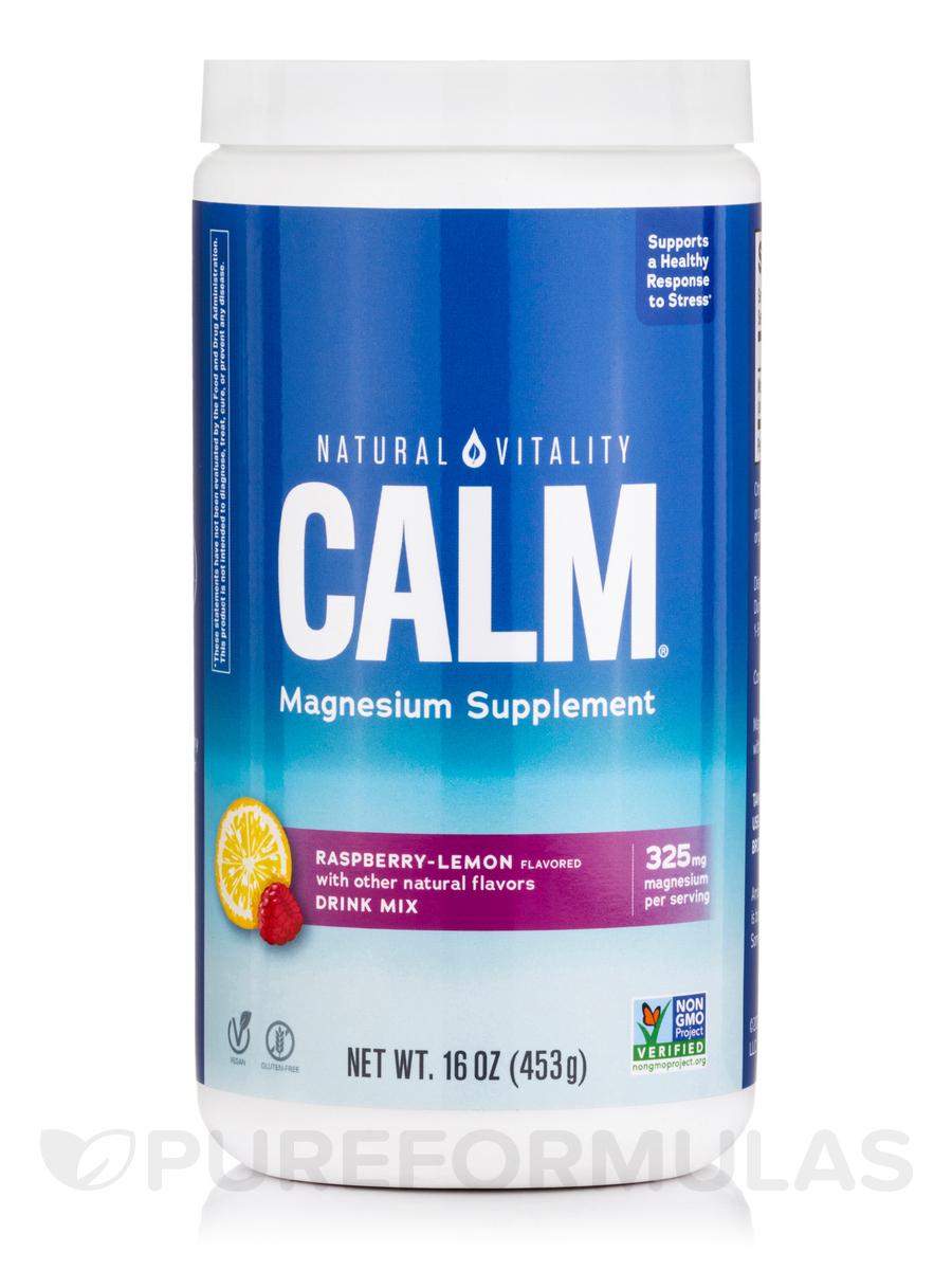 Natural Calm®, Raspberry-Lemon Flavor - 16 oz (453 Grams)