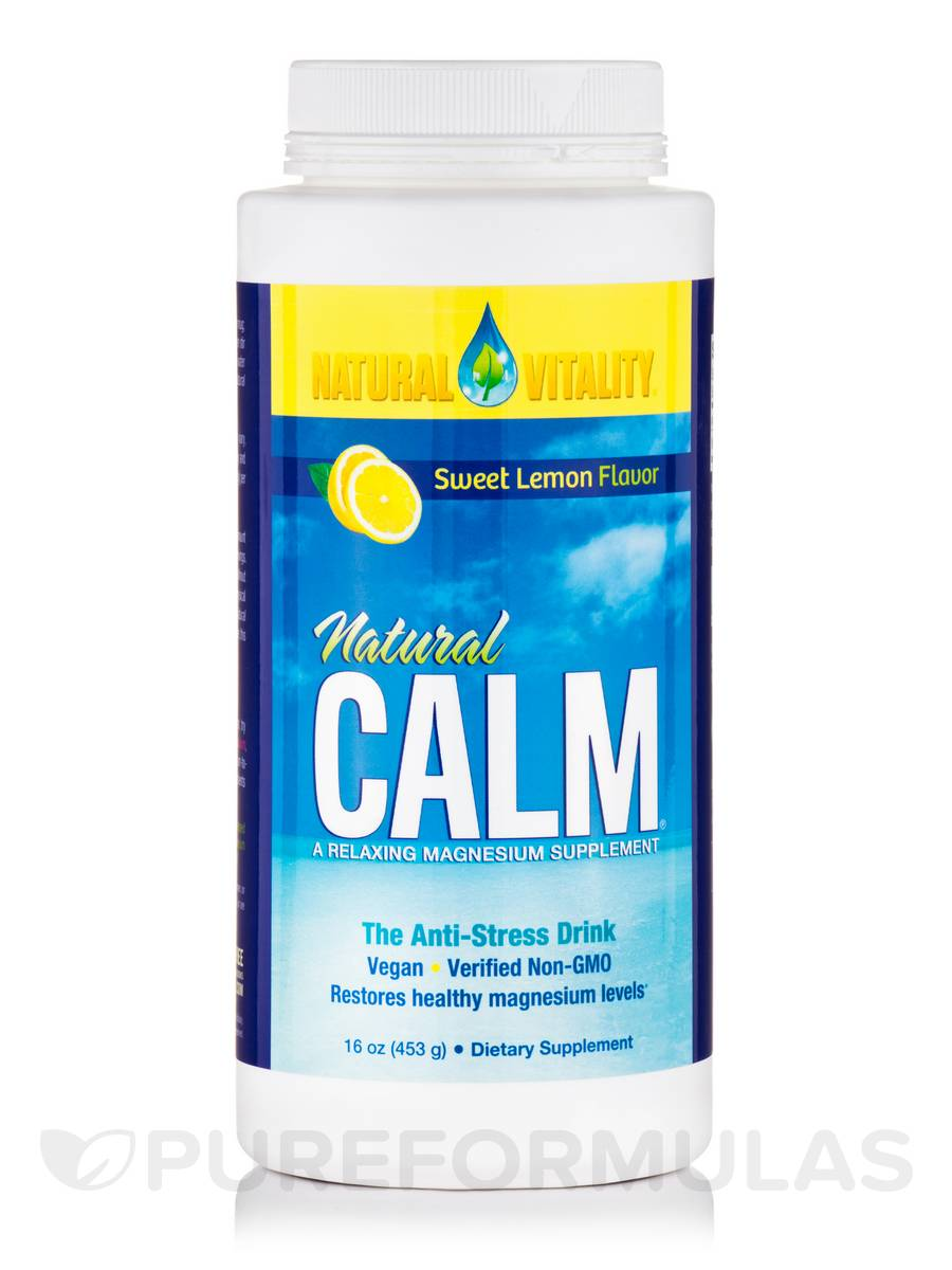 Natural Calm®, Sweet Lemon Flavor - 16 oz (453 Grams)