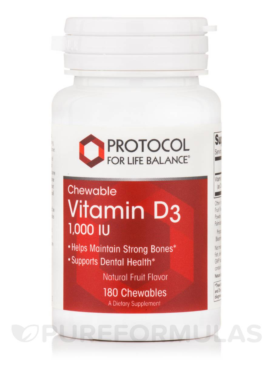 Natural D3 1,000 IU - 180 Chewables