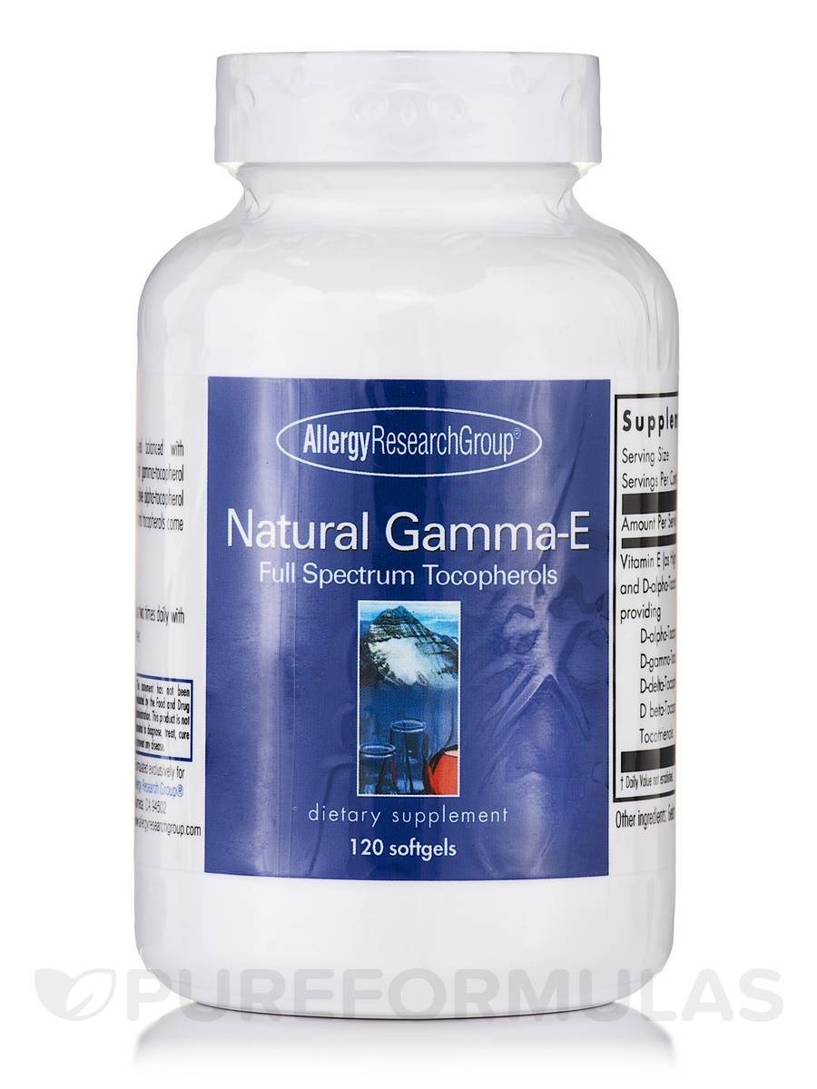 Natural Gamma-E (Full Spectrum Tocopherols) - 120 Softgels
