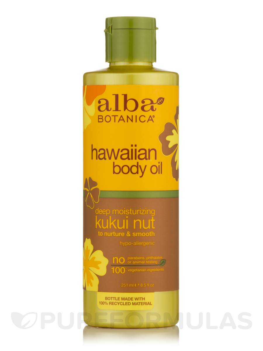 Hawaiian Body Oil Deep Moisturizing Kukui Nut - 8.5 fl. oz (251 ml)