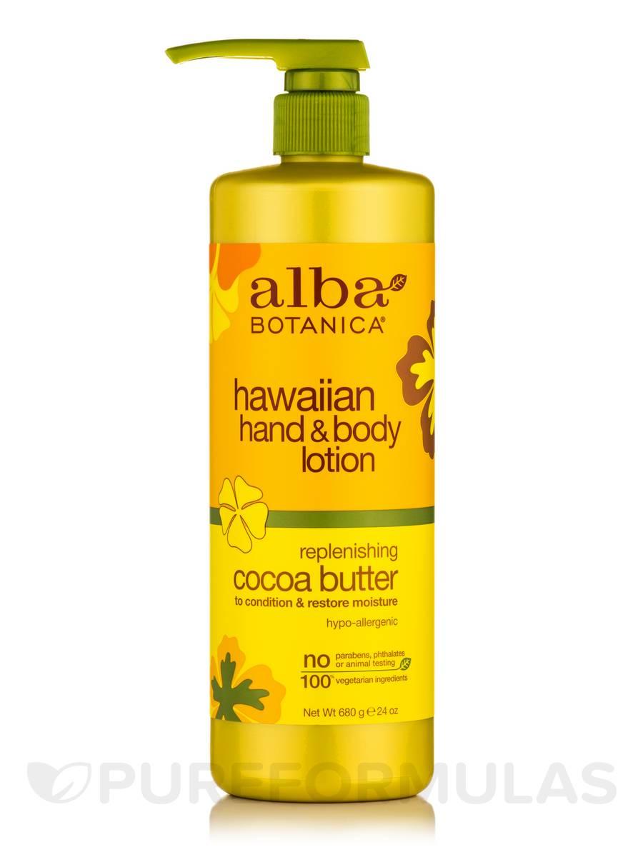 Natural Hawaiian Hand & Body Lotion Replenishing Cocoa Butter - 24 oz (680 Grams)