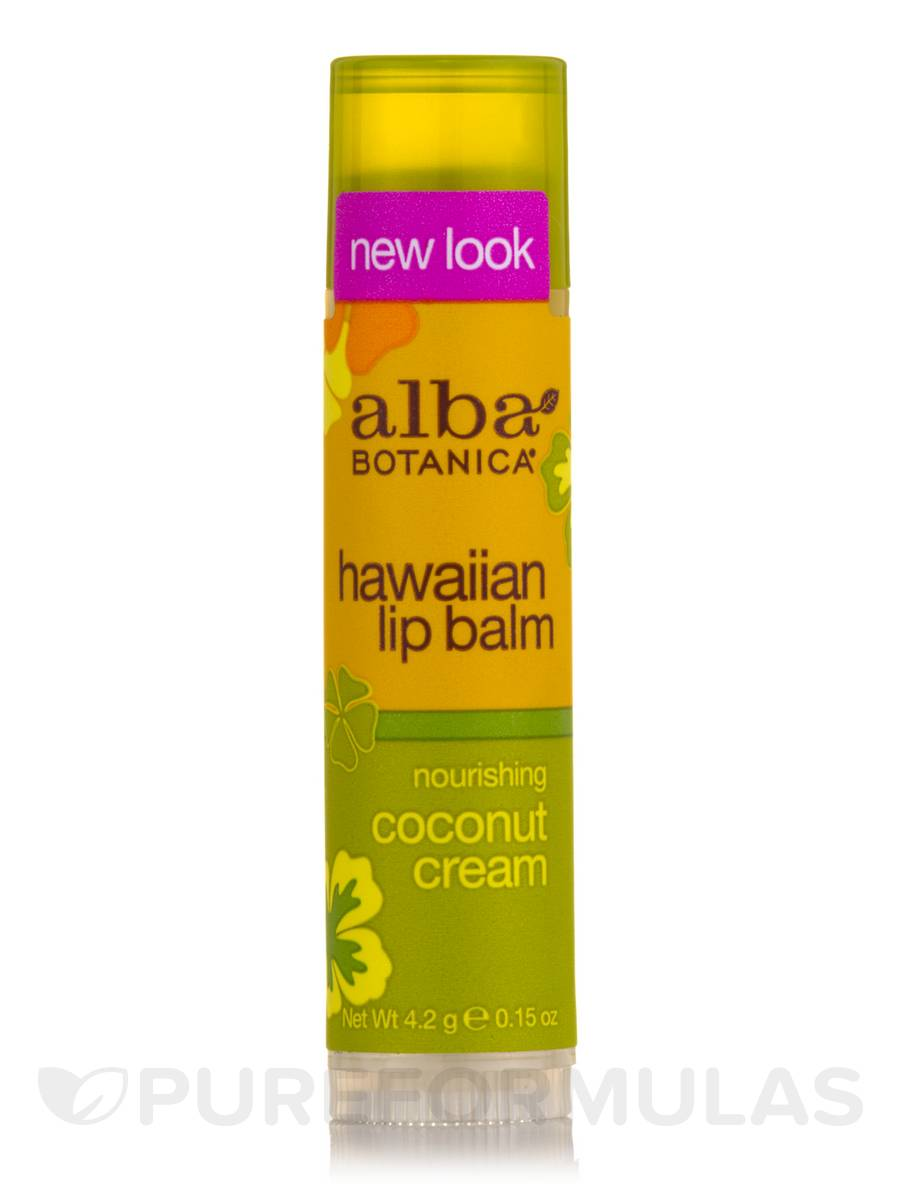 Natural Hawaiian Lip Balm Nourishing Coconut Cream - 0.15 oz (4.2 Grams)