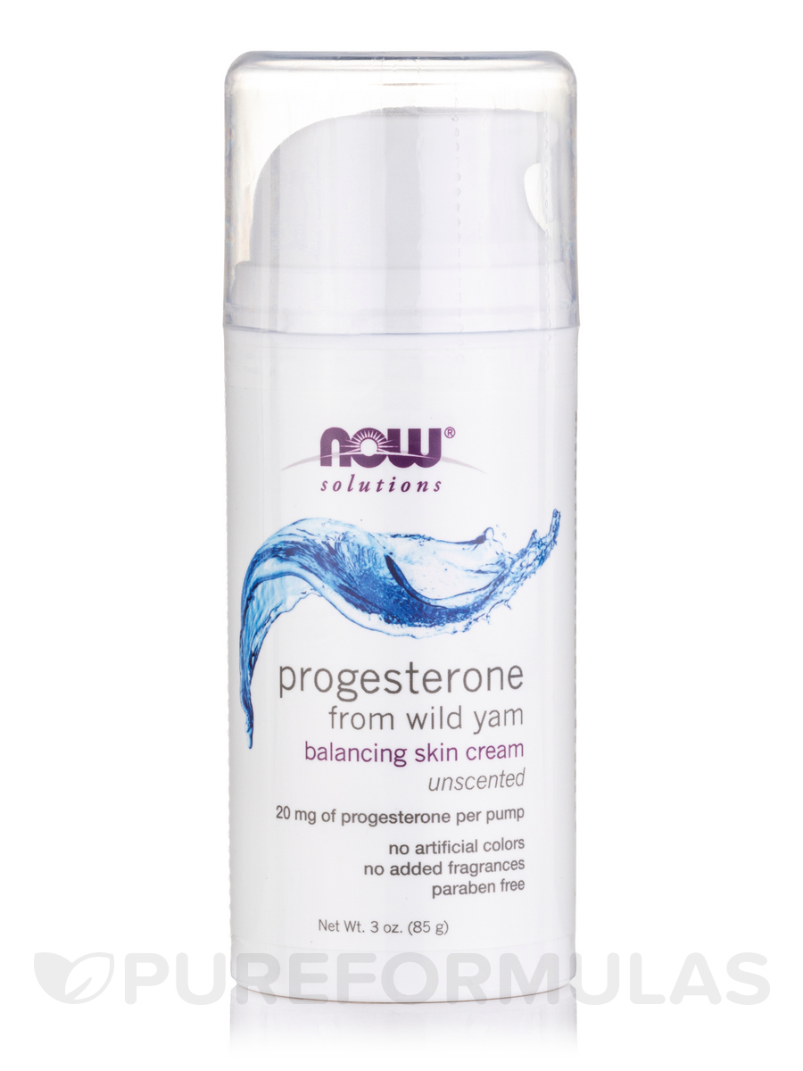 NOW® Solutions - Natural Progesterone Liposomal Skin Cream - 3 oz (85 Grams)
