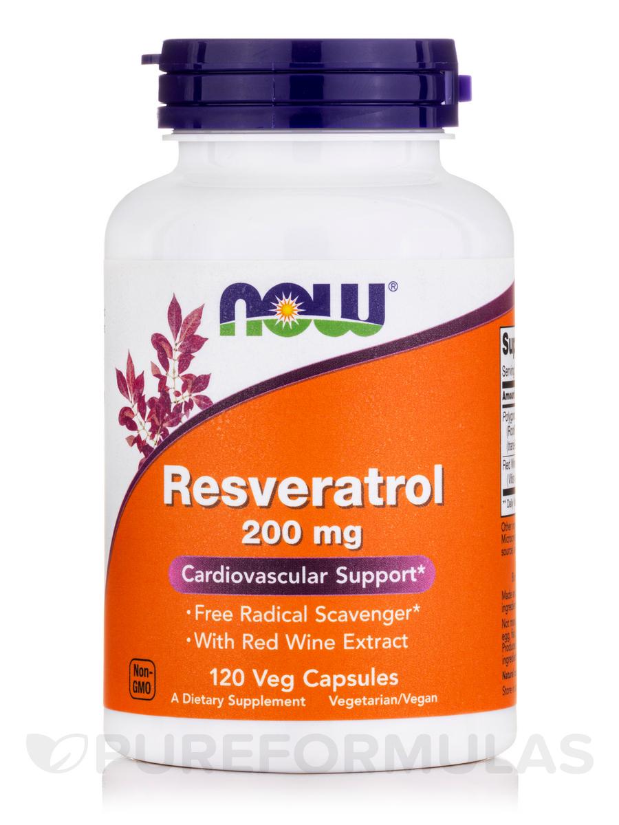 Natural Resveratrol 200 mg - 120 Veg Capsules