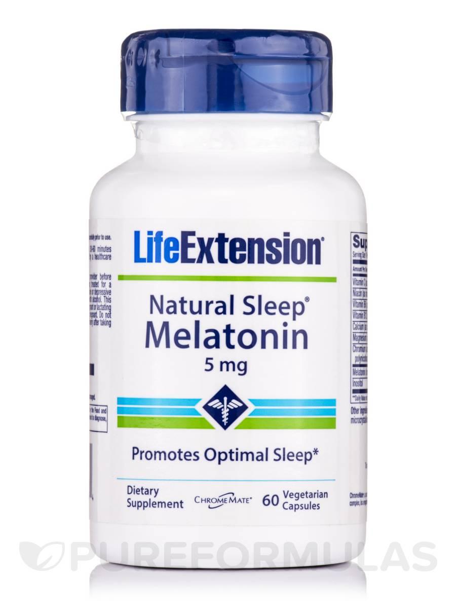 Natural Sleep Melatonin 5 mg - 60 Vegetarian Capsules