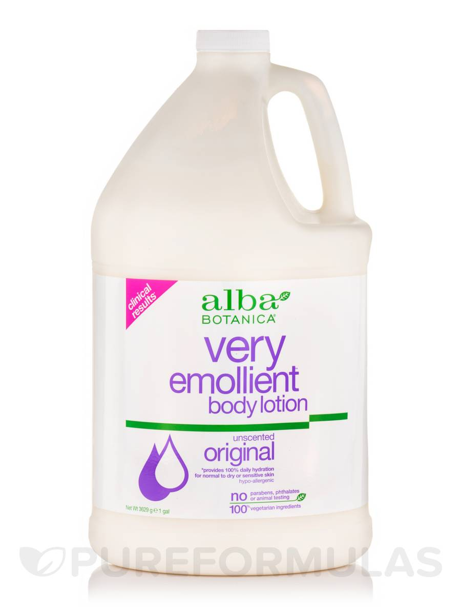 Natural Very Emollient Body Lotion Unscented Original - 1 Gal (3629 Grams)