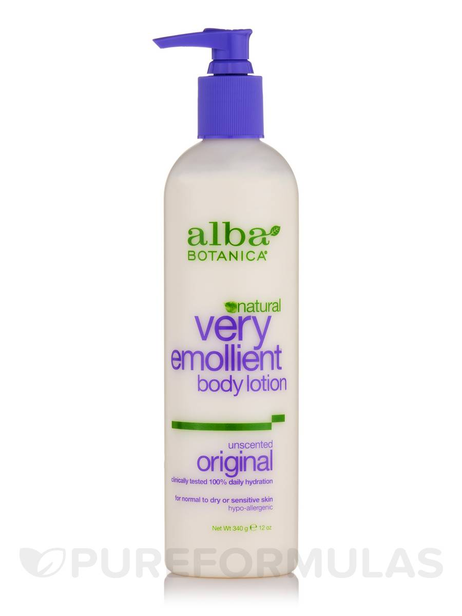 Natural Very Emollient Body Lotion Unscented Original - 12 oz (340 Grams)