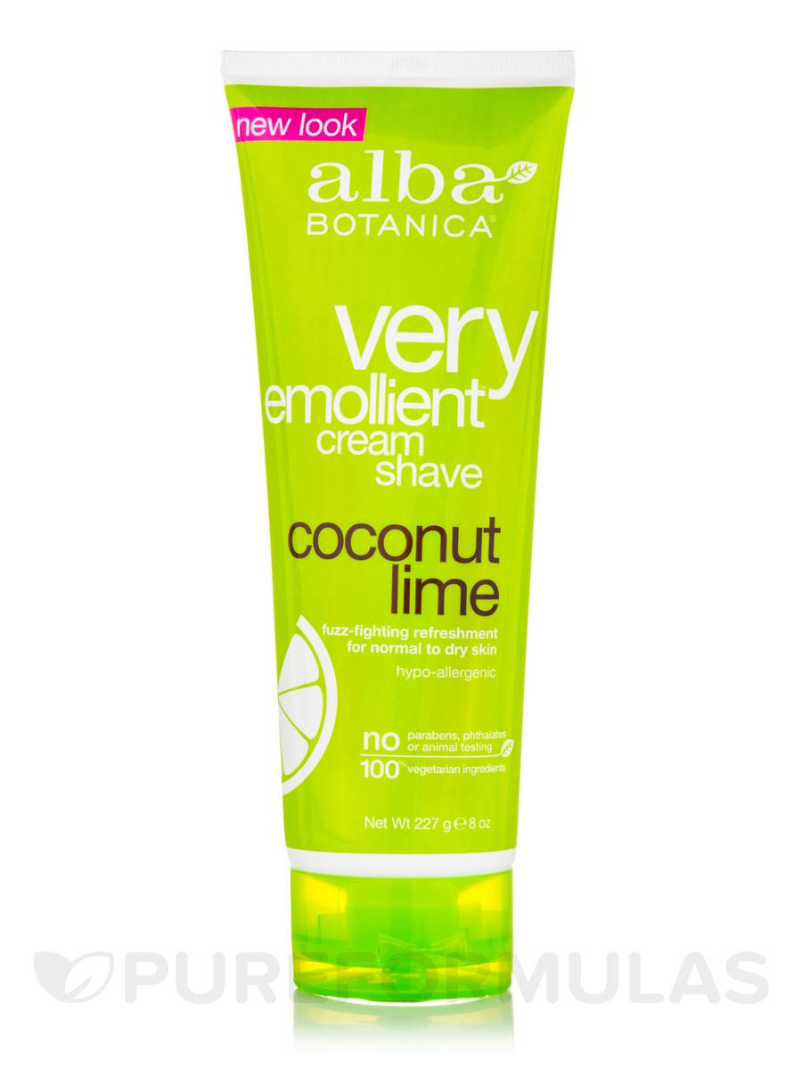 Natural Very Emollient Cream Shave Coconut Lime - 8 oz (227 Grams)