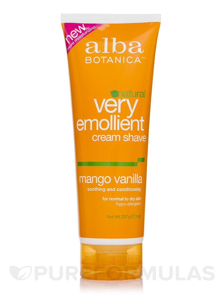 Natural Very Emollient Cream Shave Mango Vanilla - 8 oz (227 Grams)