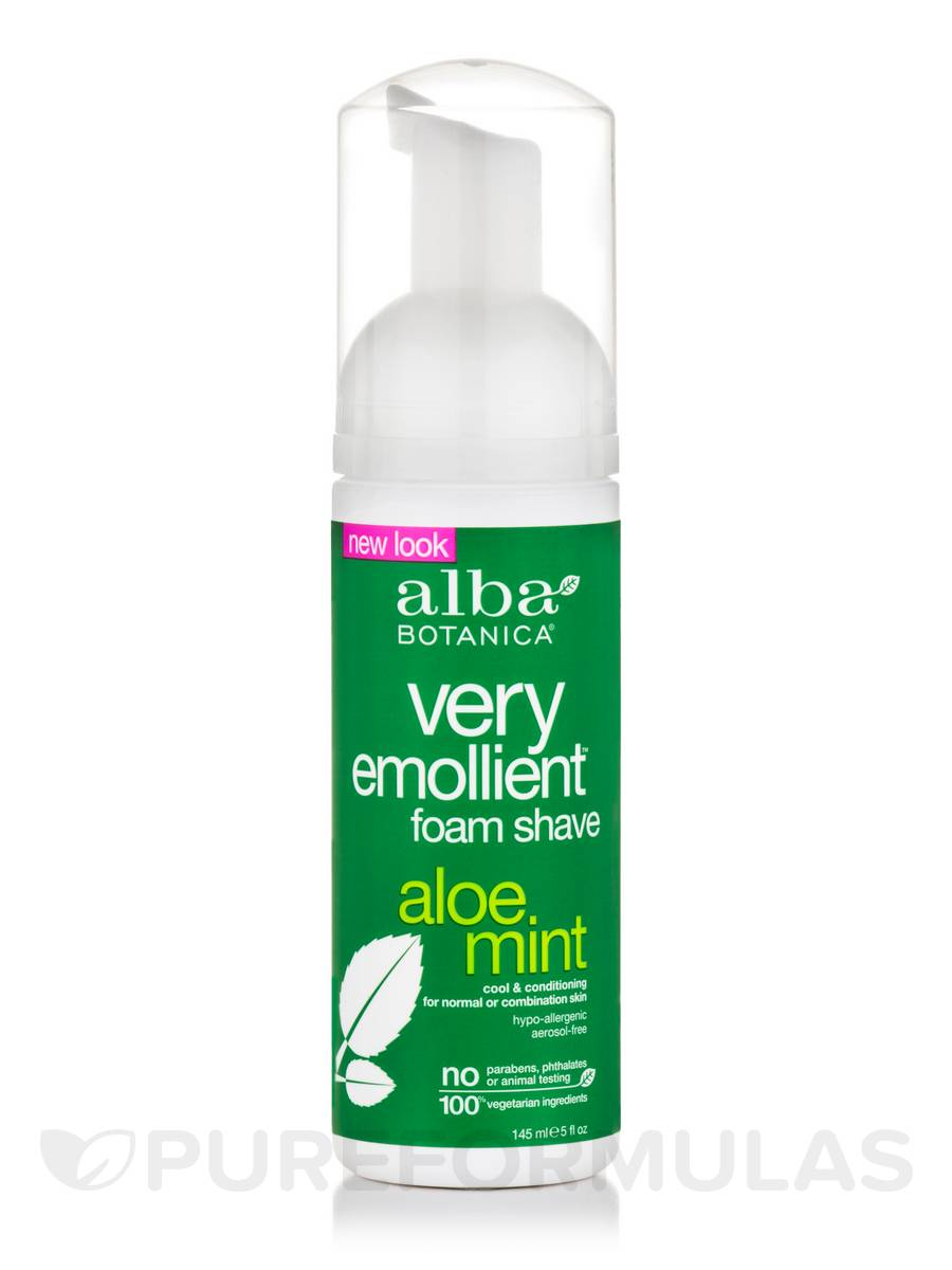 Natural Very Emollient Foam Shave Aloe Mint - 5 fl. oz (145 ml)