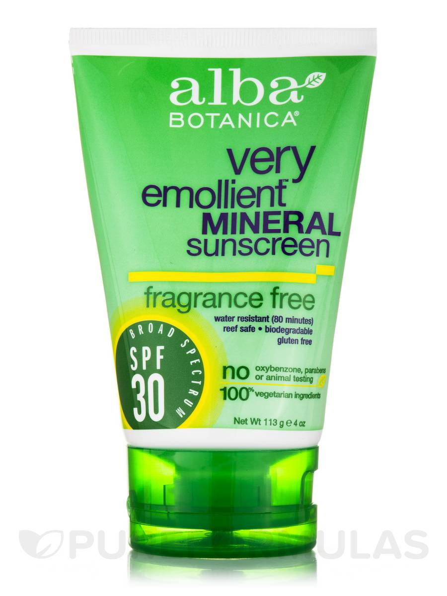 alba botanica very emollient fragrance free mineral sunscreen