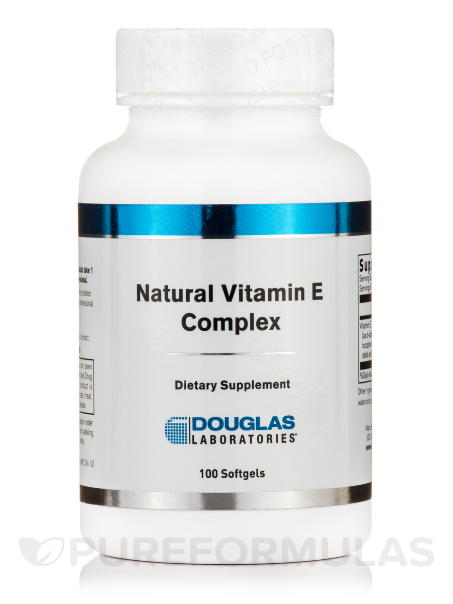 Natural Vitamin E Complex 400 IU - 100 Softgels