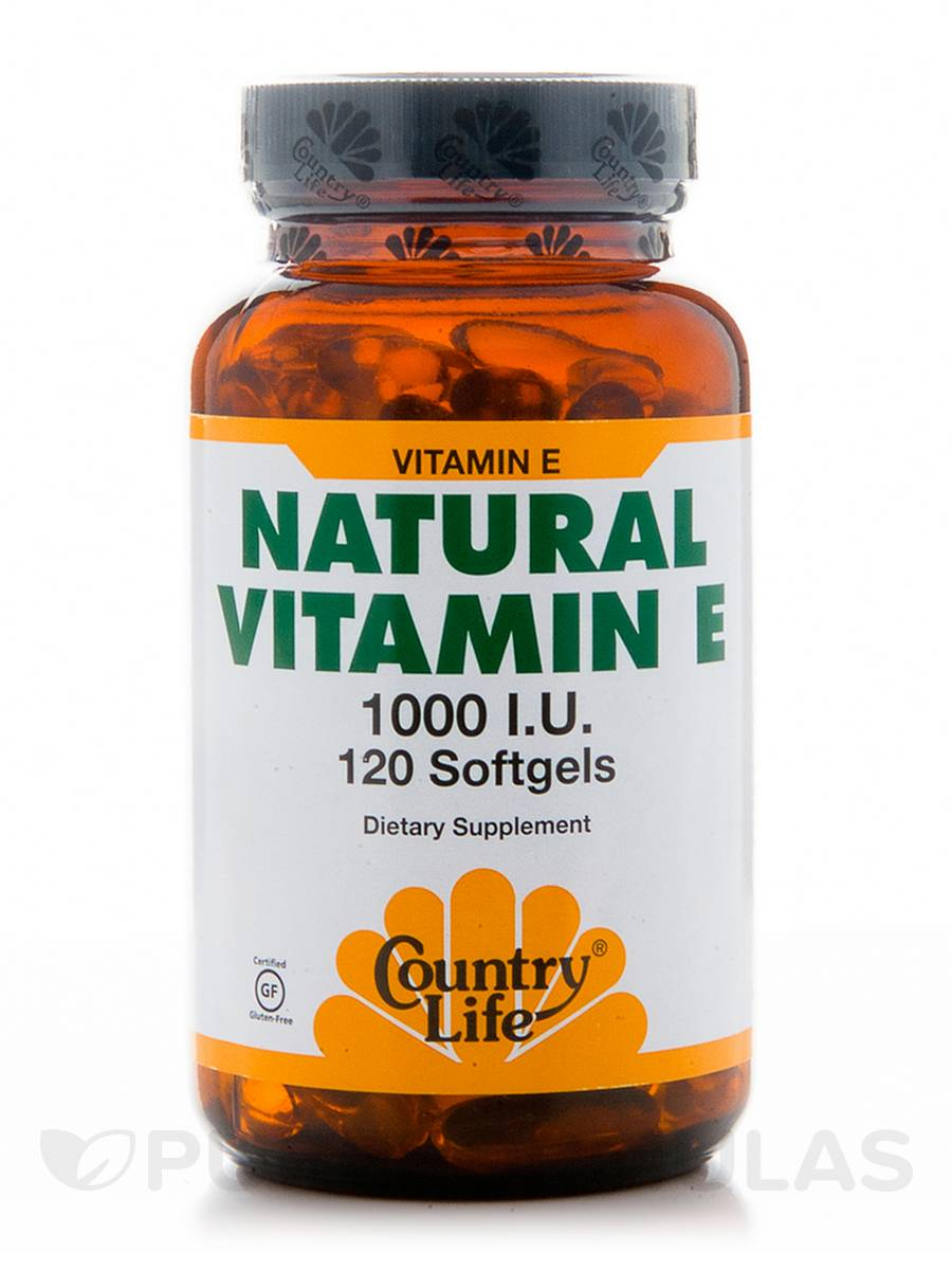 Natural Vitamin E 1000 IU - 120 Softgels