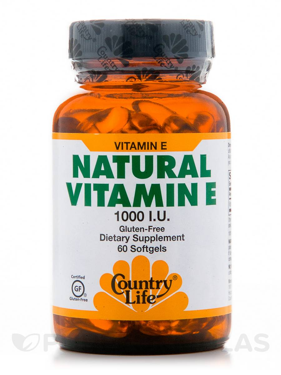 Natural Vitamin E 1000 IU - 60 Softgels