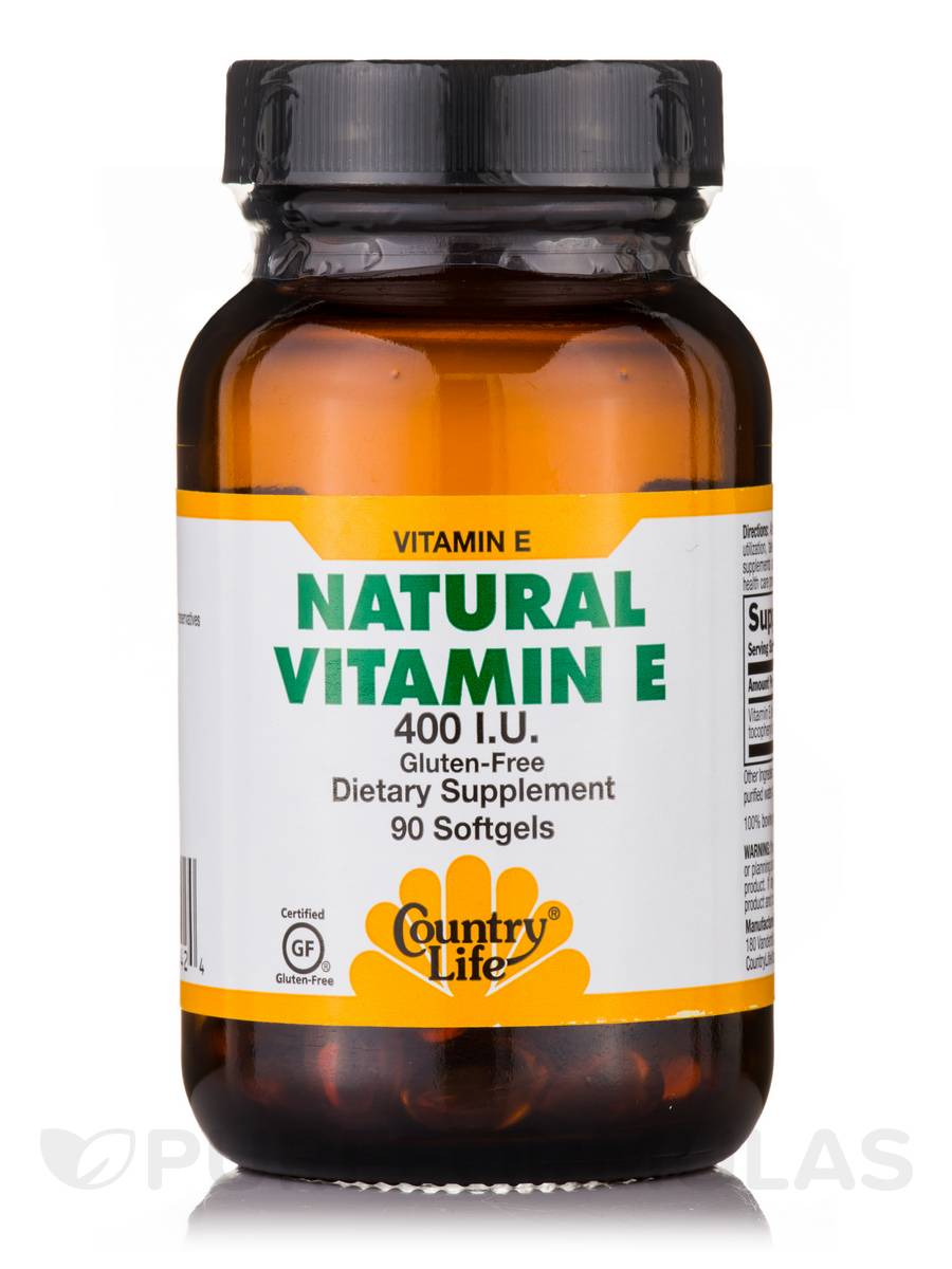 Natural Vitamin E 400 IU - 90 Softgels