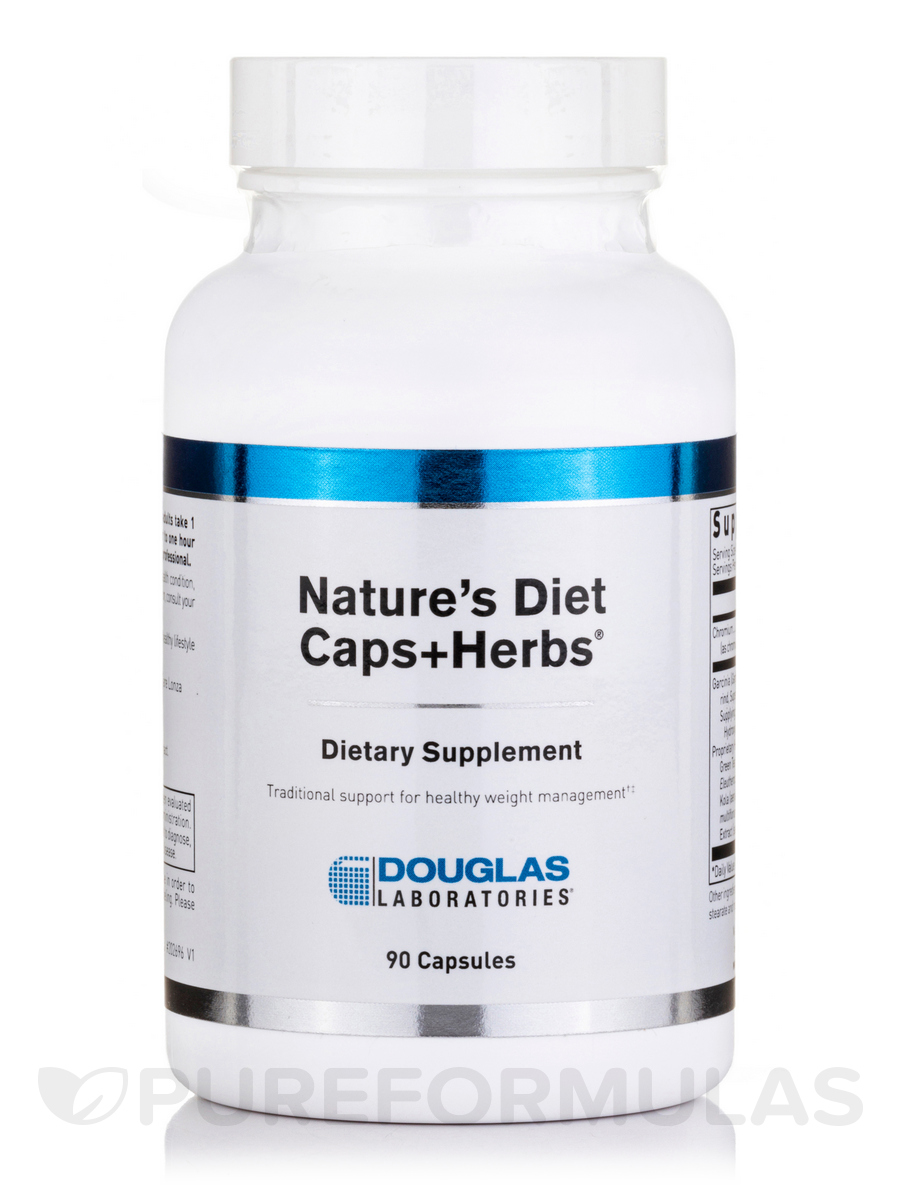 Nature's Diet Caps + Herbs - 90 Capsules