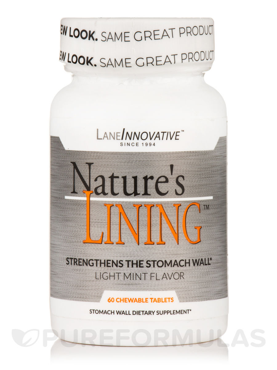 Nature's Lining™ Natural Mint Flavor - 60 Chewable Tablets