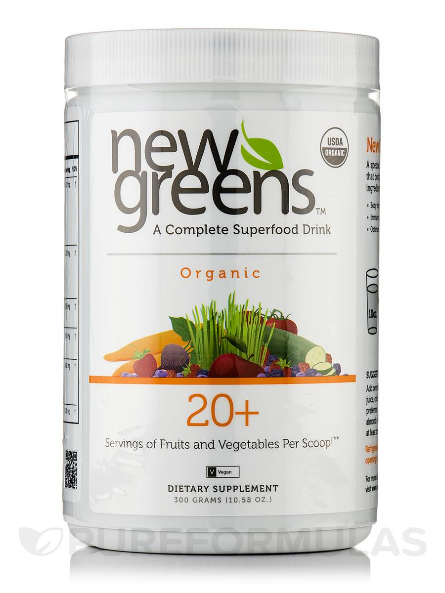 New Greens™ Organic Powder - 10.58 oz (300 Grams)