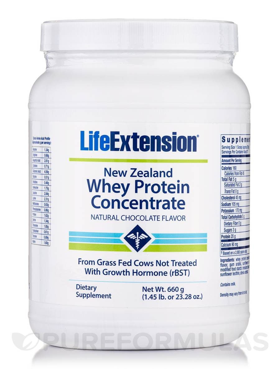 New Zealand Whey Protein Concentrate (Natural Chocolate Flavor) - 23.28 oz (660 Grams)