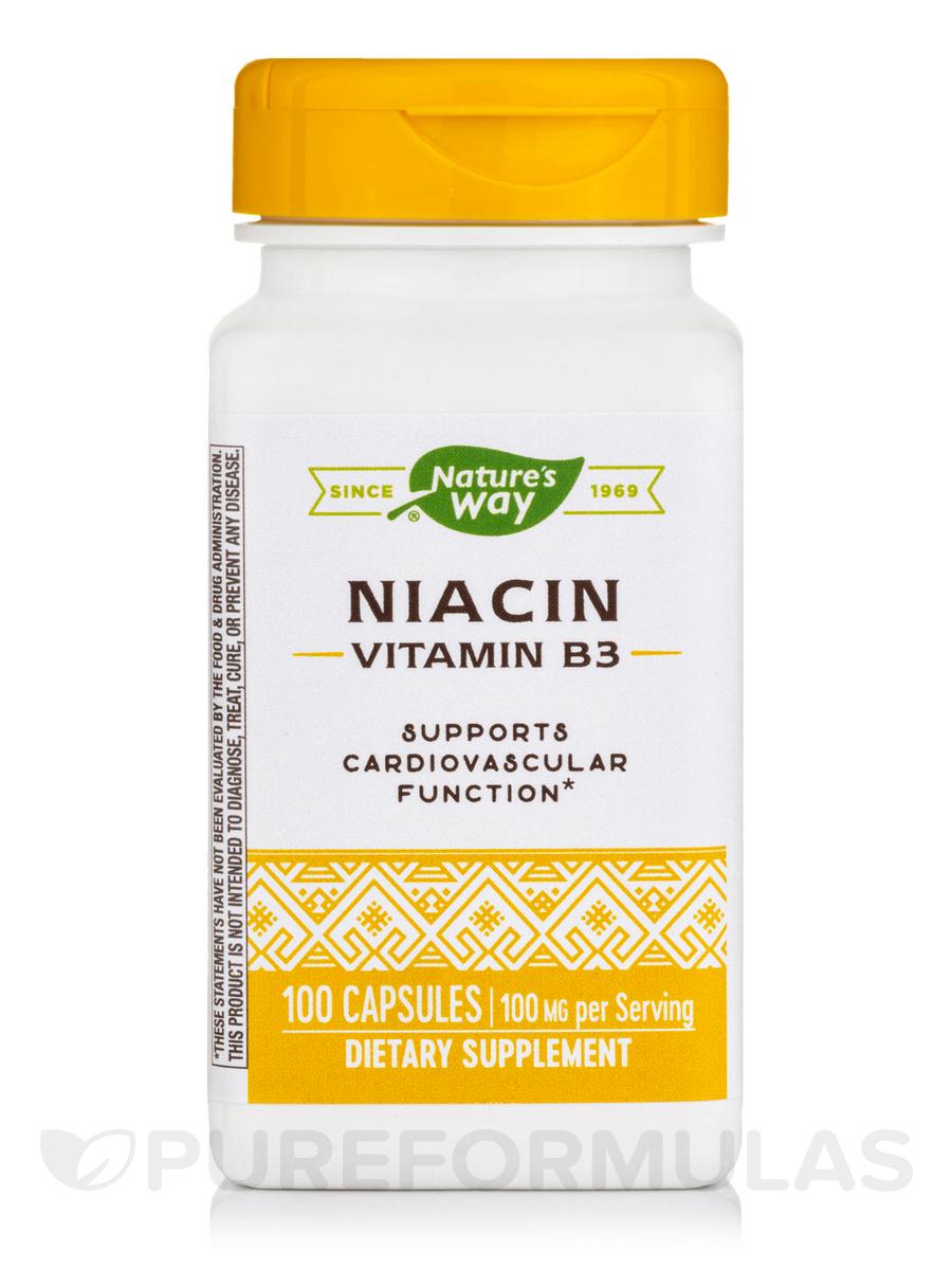 Niacin 100 mg - 100 Capsules