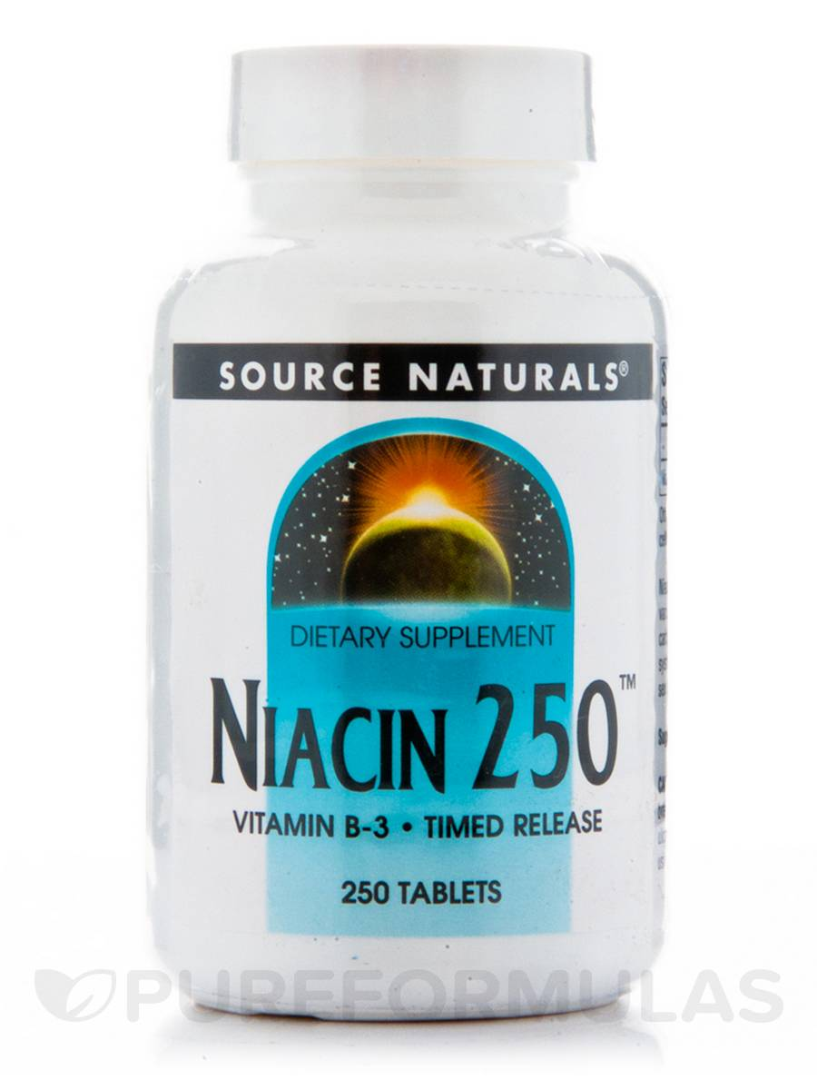 Niacin 250 mg T/R - 250 Tablets