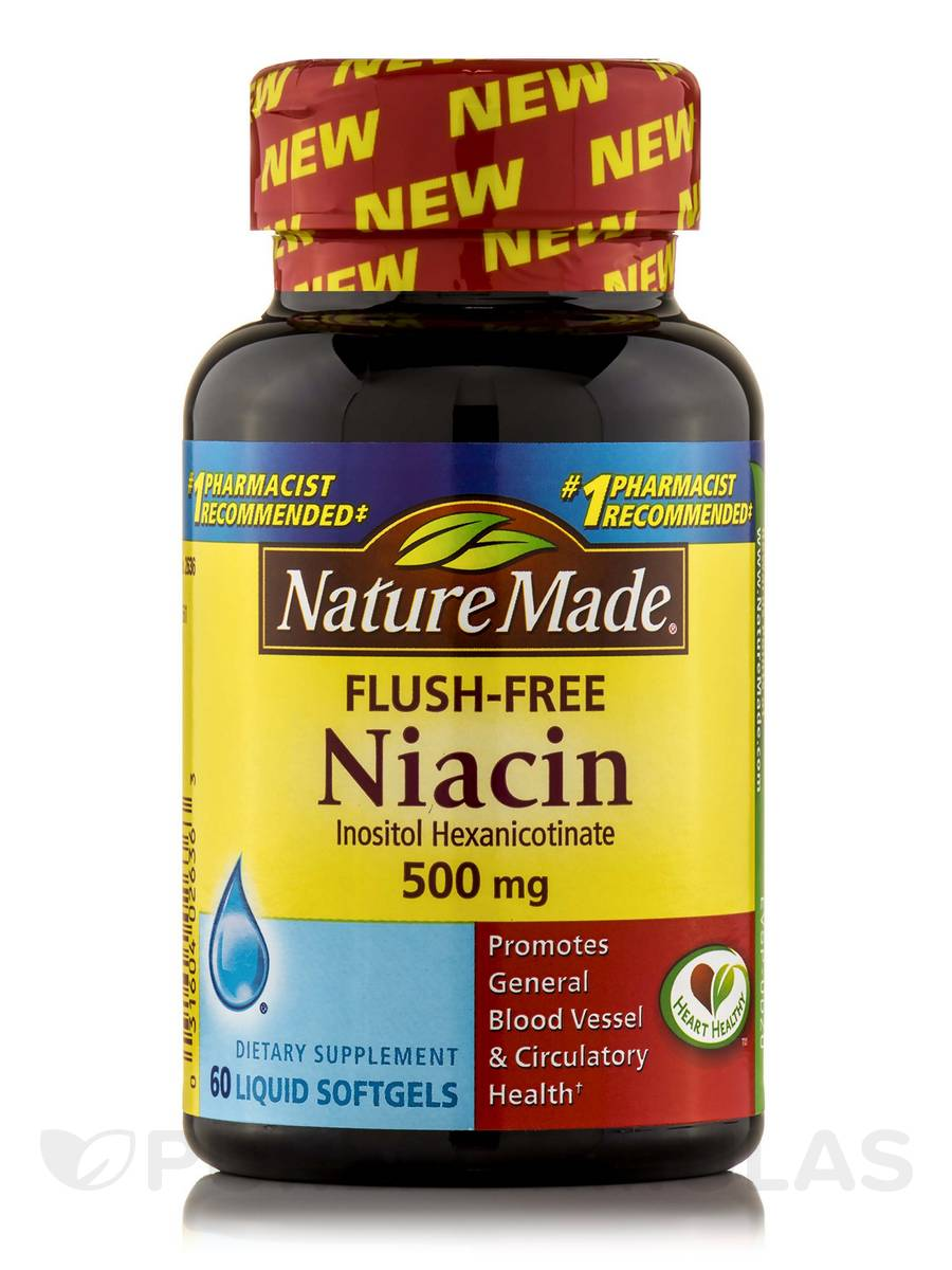 Niacin 500 mg Flush-Free - 60 Softgels