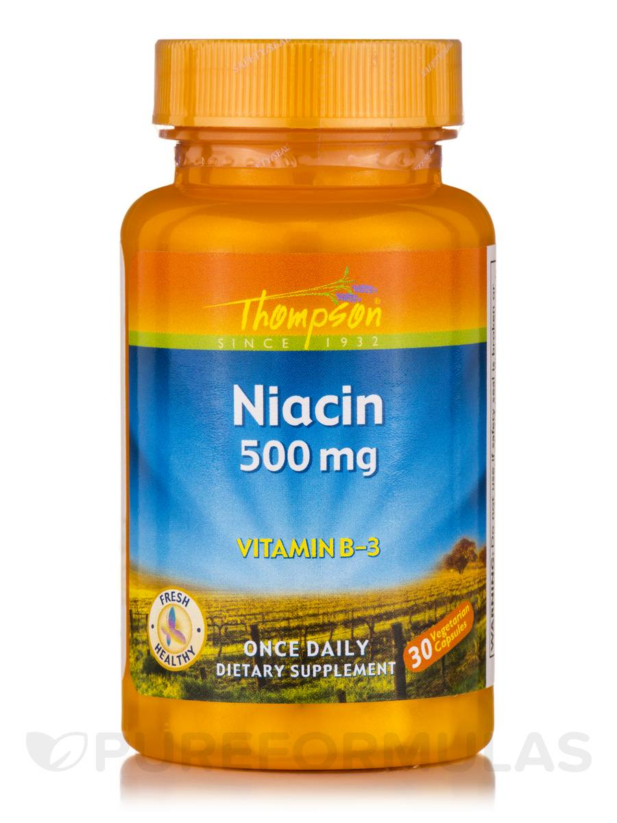 Niacin 500 mg (Vitamin B-3) - 30 Tablets