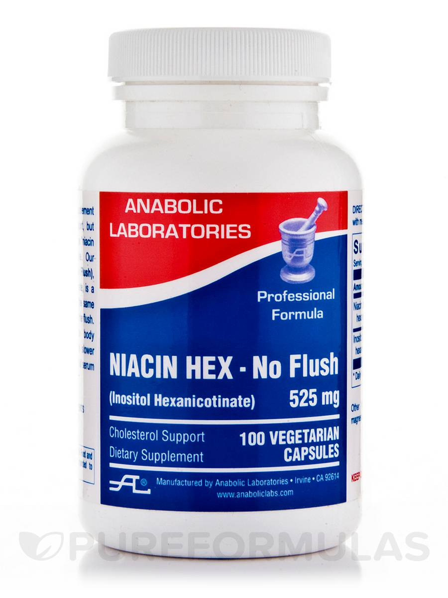 Niacin Hex - No Flush - 100 Vegetarian Capsules