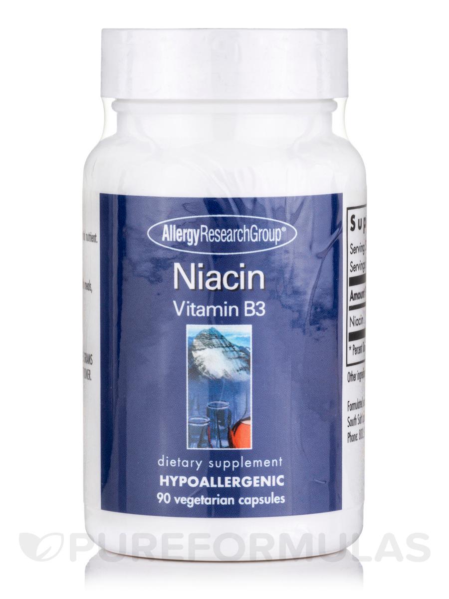 Niacin (Vit B3) - 90 Vegetarian Capsules