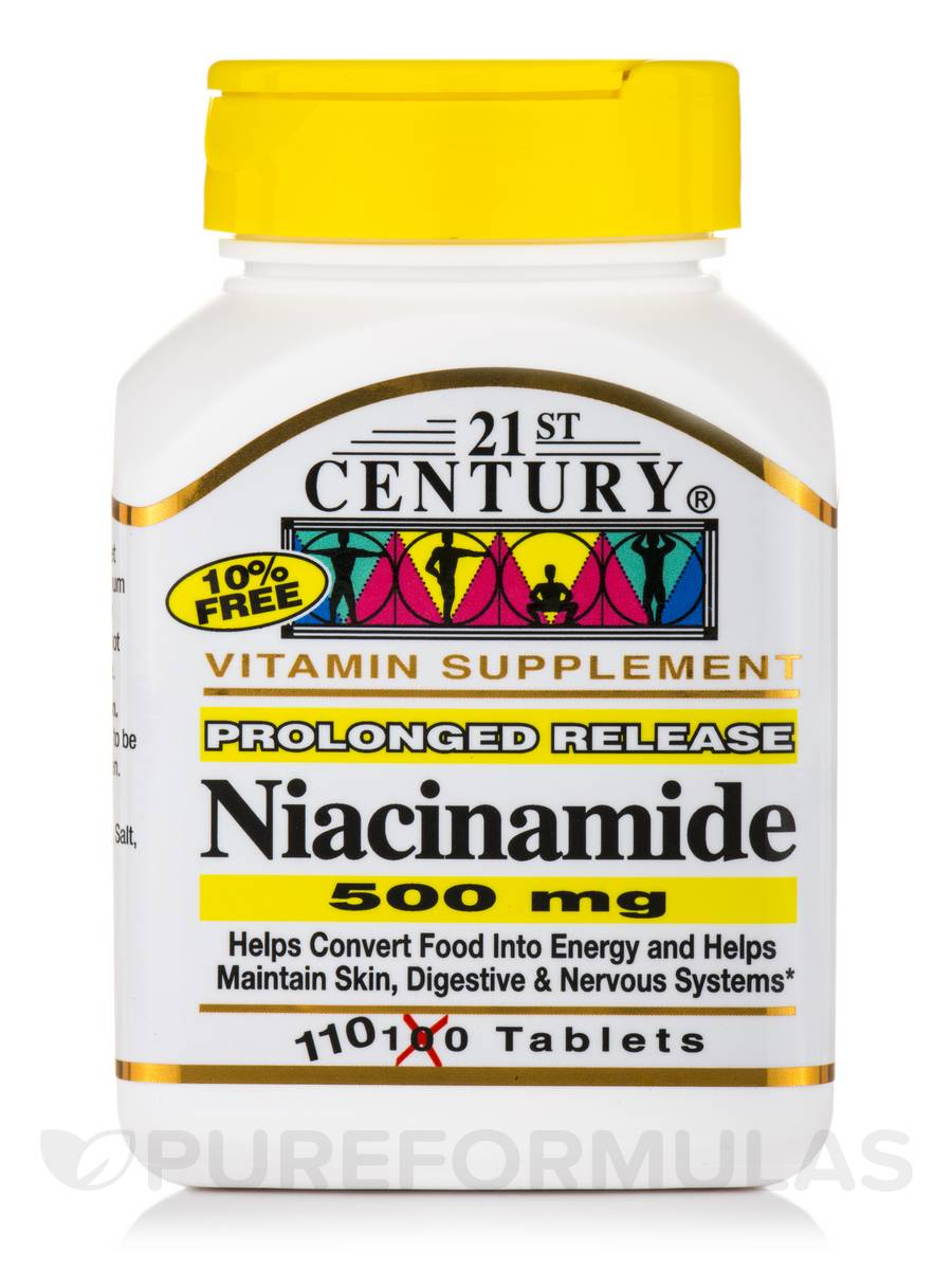 Niacinamide 500 mg Prolonged Release - 110 Tablets