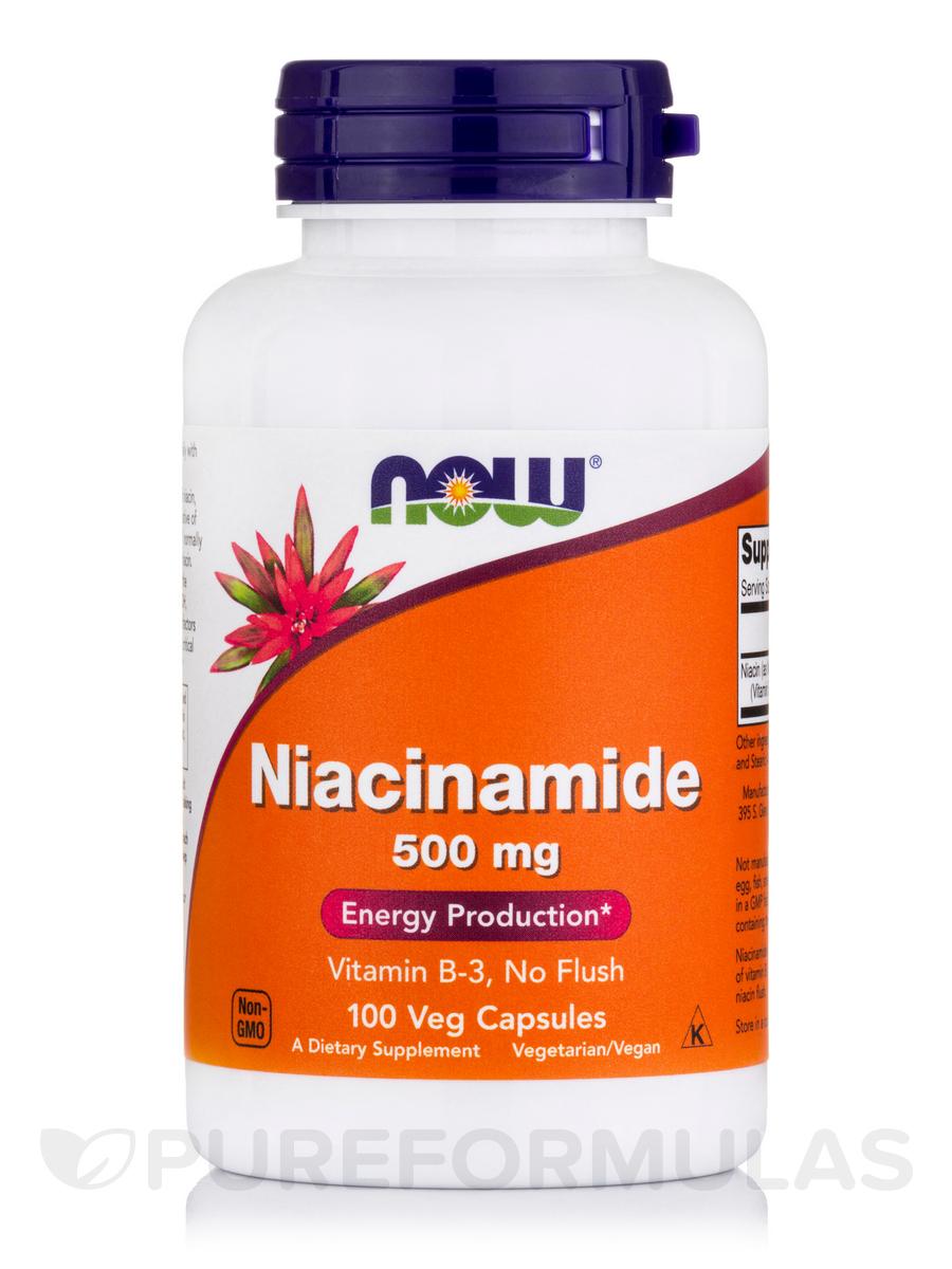 Niacinamide (Vitamin B-3) 500 mg - 100 Capsules