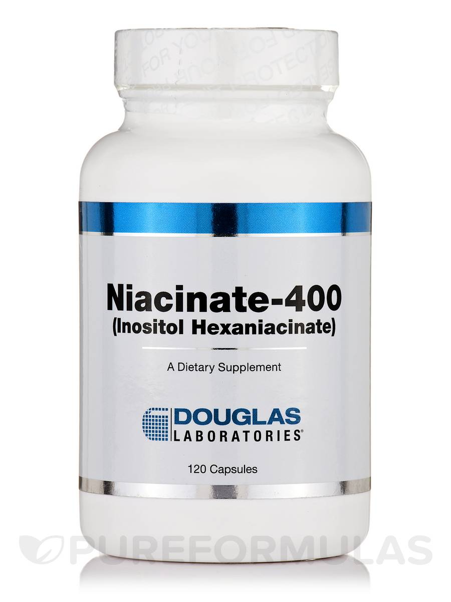 Niacinate-400 (Inositol Hexaniacinate) - 120 Capsules