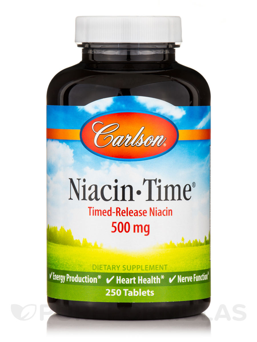 Niacin-Time 500 mg - 250 Tablets