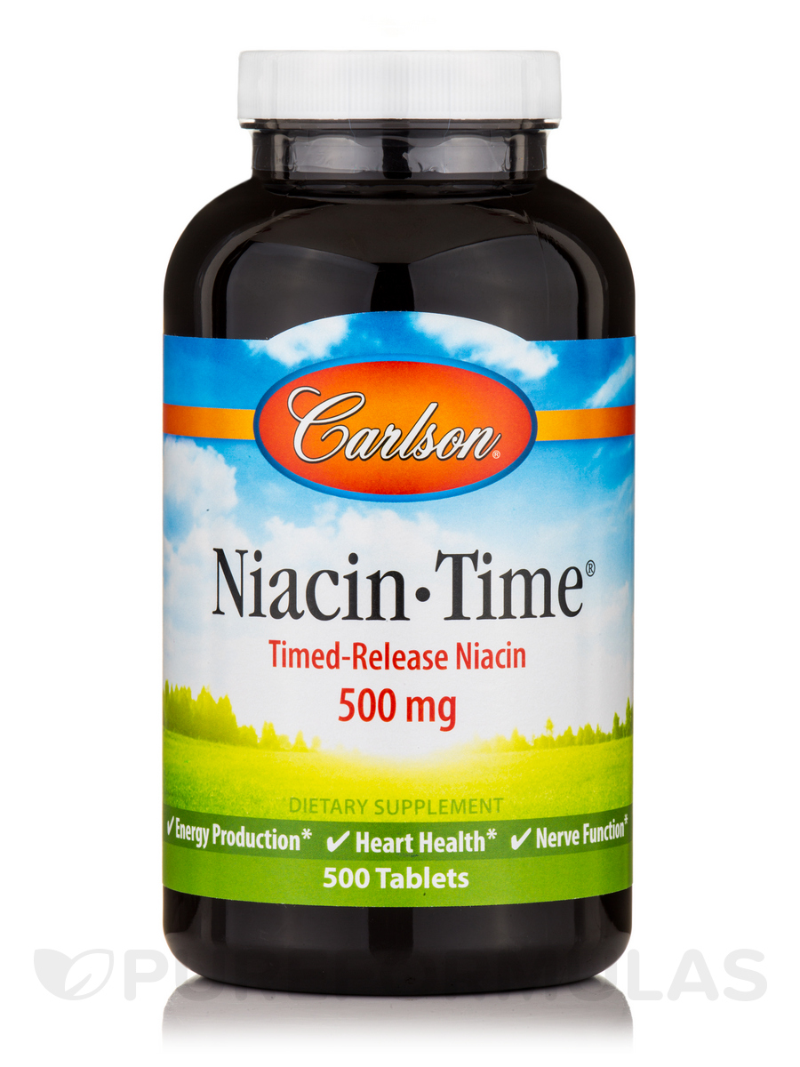 Niacin-Time 500 mg - 500 Tablets