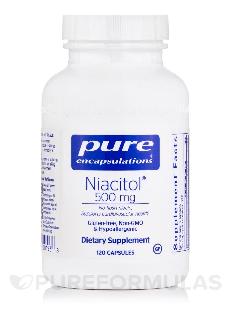 Niacitol® (no-flush niacin) 500 mg - 120 Capsules