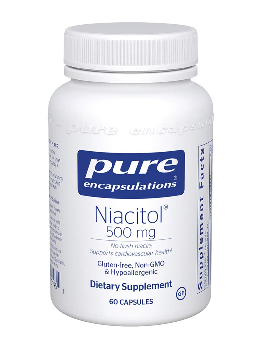 Niacitol® (no-flush niacin) 500 mg - 60 Capsules